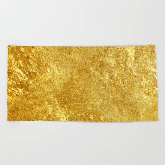 Golden Texture #lifestyle #society6 Beach Towel