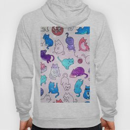 Space Cats Pattern Hoody