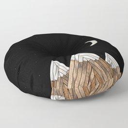 Digital Grain Mountains Floor Pillow