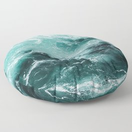 Water Photography | Sea | Ocean | Pattern | Abstract | Digital | Turquoise Floor Pillow