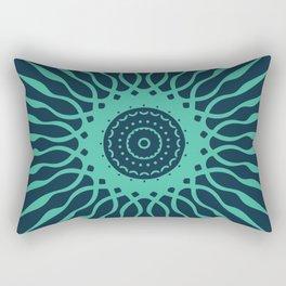 The Spark | Light Green on Dark Background Rectangular Pillow