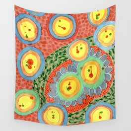 Splashes In Bubbles Wall Tapestry