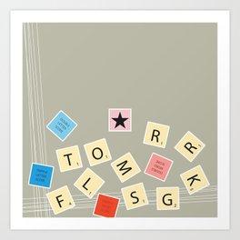 Scrambled Scrabble Art Print