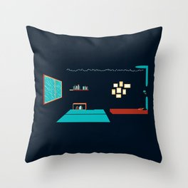 In a rainy day, a place to stay Throw Pillow