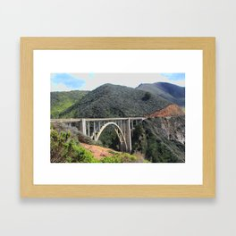 Look at the Bixby Bridge Framed Art Print