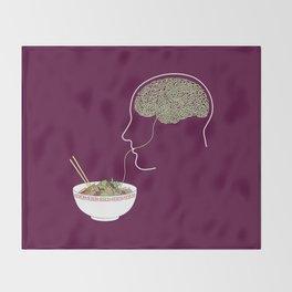 Noodle Brain Throw Blanket