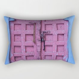 Pink Door In The Blue City, Jodhpur Rectangular Pillow