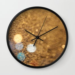 Blue Bokeh  Wall Clock