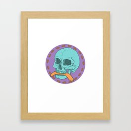 It's hotdog season!  Framed Art Print