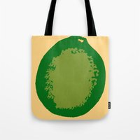 lime green Tote Bags featuring lime by D.J.D