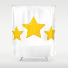 Star Hollow Out Mesh Shower Curtain