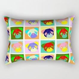 Pug Pop Art Rectangular Pillow