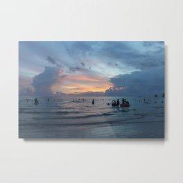 Sunset Beach 2 (Boracay, Philippines) Metal Print