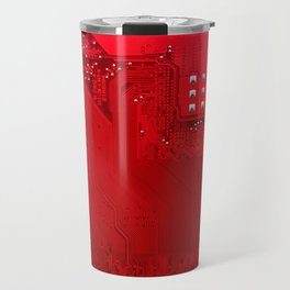 red electronic circuit board Travel Mug