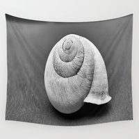 shell Wall Tapestries featuring Shell by Abigail Burgett