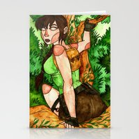 lara croft Stationery Cards featuring Lara Croft by Jazmine Phillips