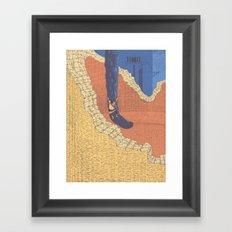 Climing Trico Framed Art Print