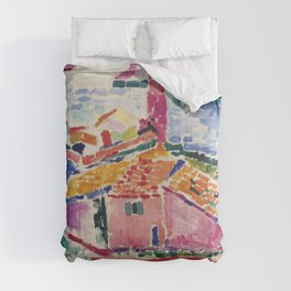 View of Collioure - Henri Matisse - Exhibition Poster Comforters