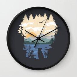 Mountain Lion Wilderness Wall Clock