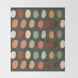 Hand drawn pastel dots pattern Throw Blanket
