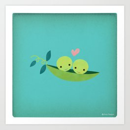 Two Peas in a Pod Art Print