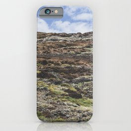 Green mountain top in the clouds / Madeira wanderlust / travel fine art print iPhone Case