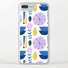 Mod Scandinavian Floral in White Clear iPhone Case