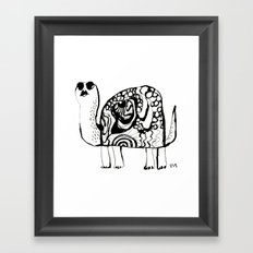 Hypno Turtle Framed Art Print