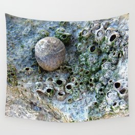 Nacre rock with sea snail Wall Tapestry