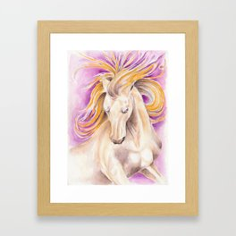 Andalusian Palomino Purple Watercolor Art Framed Art Print
