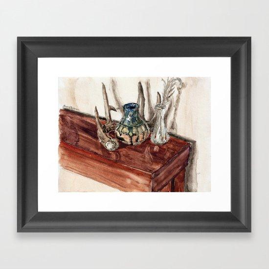 glaze and antler Framed Art Print