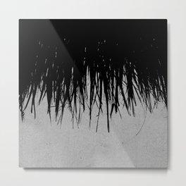 Concrete Fringe Black Metal Print