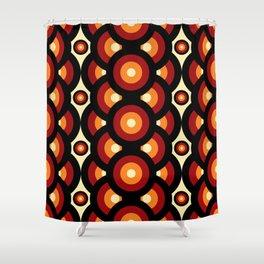 60s 70s Style Retro Vintage Mid-Century Shower Curtain
