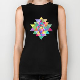 Sri Yantra triangles Biker Tank