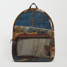 Ulysses and the Sirens - John William Waterhouse Backpack