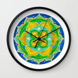 Opening the Heart Mandala Wall Clock