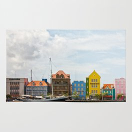 Colorful houses Willemstad Rug