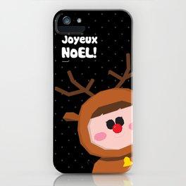 Joyeux Noel - Rudolph iPhone Case