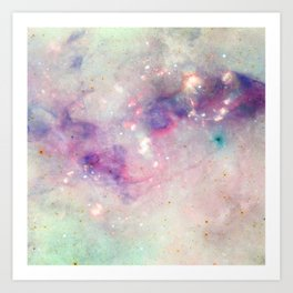 The colors of the galaxy Art Print