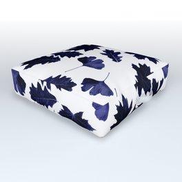 Indigo Blue Sun-Dyed Leaves Outdoor Floor Cushion