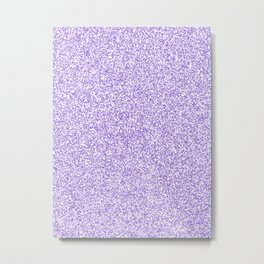 Spacey Melange - White and Dark Pastel Purple Metal Print
