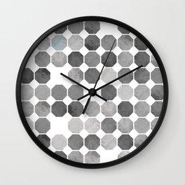 Octagonal Pattern Wall Clock