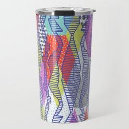 Drawn and Layered 1 Travel Mug