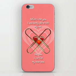 Clip Heart Valentine iPhone Skin