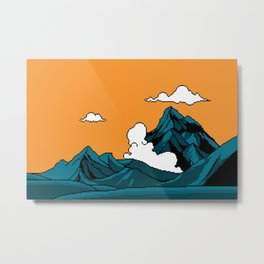 THE MOUNTAIN OF DRAGONS Metal Print