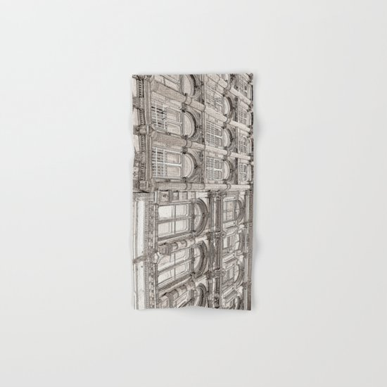 Facades - line art Hand & Bath Towel