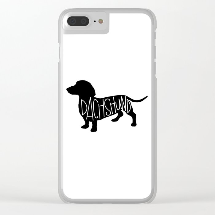 Dachshund Silhouetter Clear iPhone Case