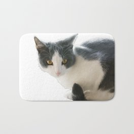 A Max And Mantle Bi Colour Cat Isolated Bath Mat