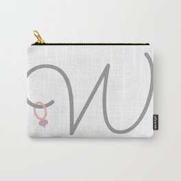 W Initial with Stitch Marker Carry-All Pouch