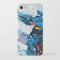 pacific rim iPhone & iPod Cases featuring Pacific Rim: Gipsy Danger by Bolin Cradley Art
